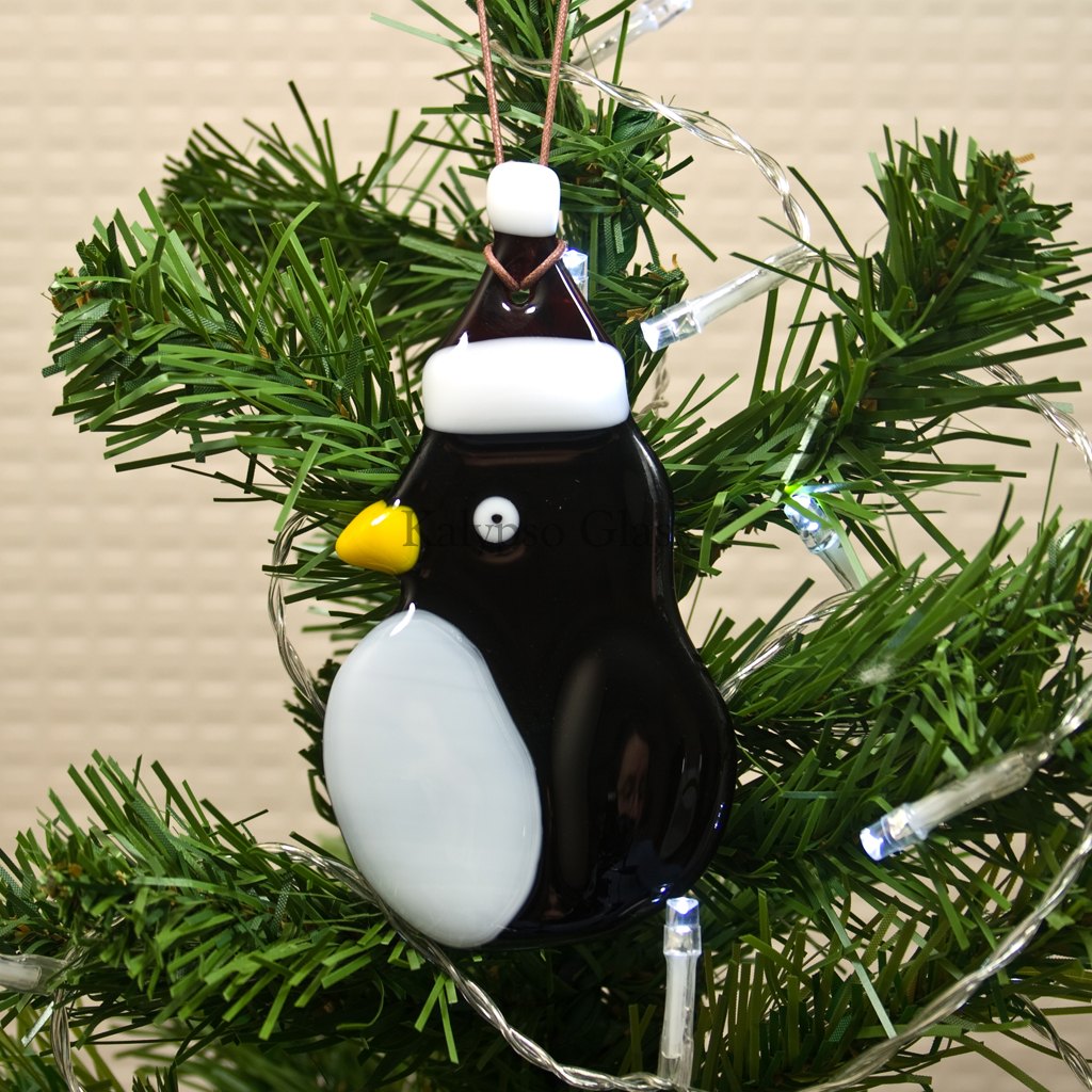 Handmade Fused Glass Christmas Decorations Kalypso Decorate Fuse Box Penguin